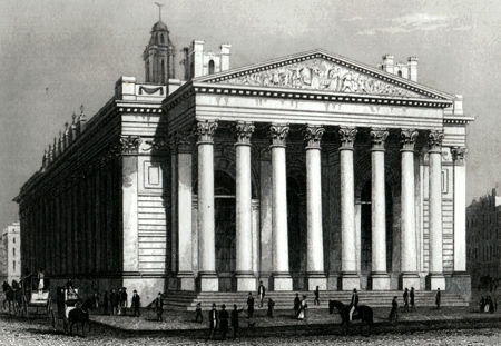 ANTIQUE PRINT: NEW ROYAL EXCHANGE. LONDON.