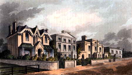 Antique print of Herne Hill
