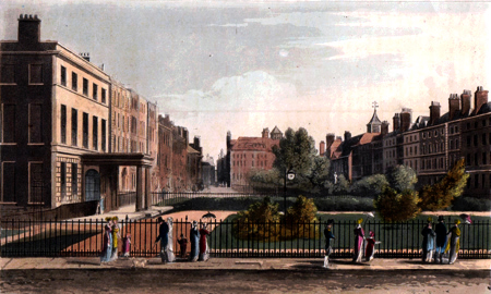 ANTIQUE PRINT: QUEEN SQUARE.