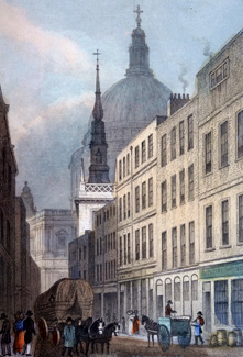 Antique print of Watling Street