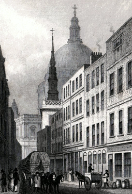 ANTIQUE PRINT: ST. AUSTIN, WATLING STREET.