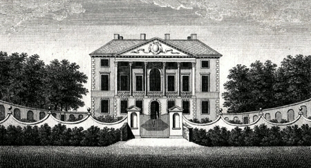 ANTIQUE PRINT: GUNNERSBURY HOUSE, THE SEAT OF THE PRINCESS AMELIA.