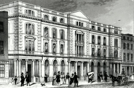 Antique print of Paternoster Row