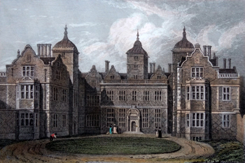 ANTIQUE PRINT: ASTON HALL, WARWICKSHIRE. LATE THE RESIDENCE OF JAMES WATT, ESQ. F.S.A.