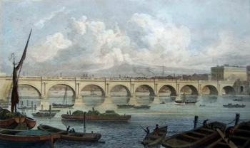 ANTIQUE PRINT: WATERLOO BRIDGE.