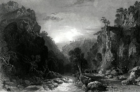 ANTIQUE PRINT: THE PASS OF INVERFARRAKAIG. (INVERNESS-SHIRE.)