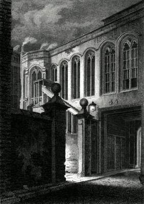 ANTIQUE PRINT: CROSBY HALL, LONDON.