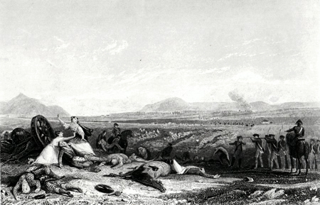 ANTIQUE PRINT: CULLODEN MOOR, LOOKING ACROSS THE MORAY FIRTH. (INVERNESS-SHIRE.)