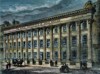 ANTIQUE PRINT: THE ROYAL INSTITUTION.