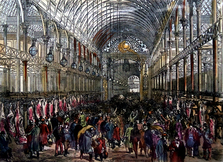 ANTIQUE PRINT: [SMITHFIELD] THE METROPOLITAN MEAT MARKET.