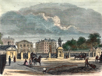 ANTIQUE PRINT: GATEWAY OF THE FOUNDLING HOSPITAL.