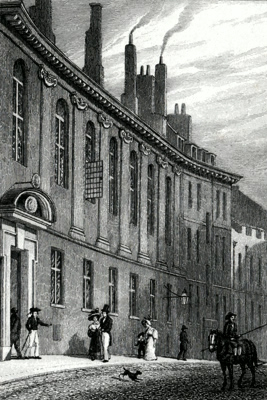 ANTIQUE PRINT: MERCHANT TAILORS' SCHOOL.