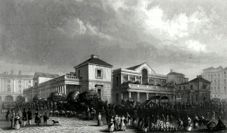 ANTIQUE PRINT: COVENT GARDEN MARKET.