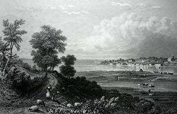 Antique print of Bembridge, Isle of Wight