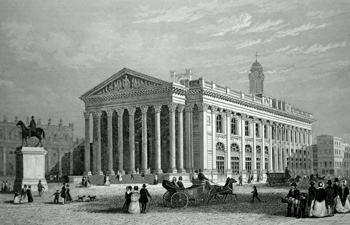 ANTIQUE PRINT: THE ROYAL EXCHANGE (LONDON).