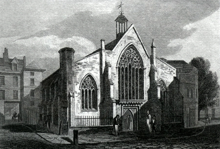 Antique print of the Dutch Church, Austin Friars