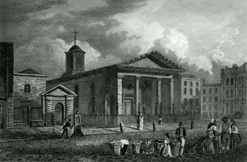 ANTIQUE PRINT: ST. PAUL'S CHURCH, COVENT GARDEN.