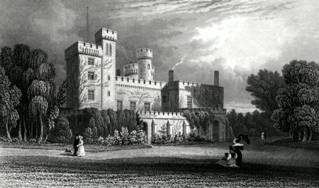 ANTIQUE PRINT: EAST COWES CASTLE, THE SEAT OF N. BARWELL ESQR.