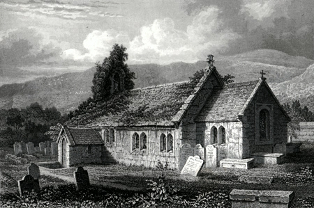 ANTIQUE PRINT: ST. LAWRENCE CHURCH.