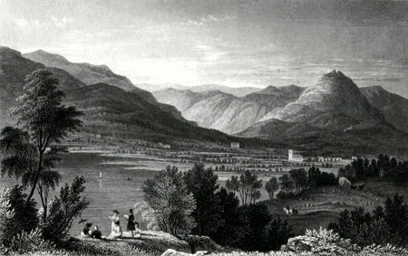 Antique print of Grasmere