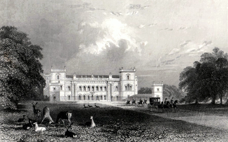 ANTIQUE PRINT: GRIMSTHORPE CASTLE, LINCOLNSHIRE.