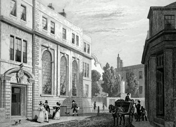 Antique print of Coopers Hall