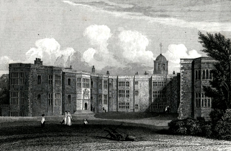 ANTIQUE PRINT: TEMPLE NEWSAM. YORKSHIRE.