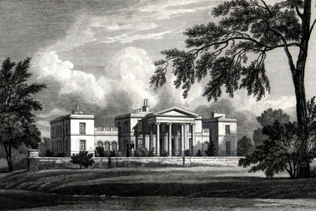 ANTIQUE PRINT: ARMLEY HOUSE, YORKSHIRE.