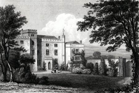 ANTIQUE PRINT: LANGTON HALL. LEICESTERSHIRE.