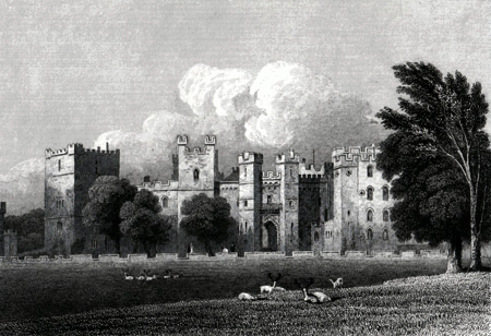 ANTIQUE PRINT: RABY CASTLE, DURHAM.