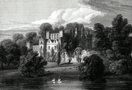 ANTIQUE PRINT: GUY'S CLIFF, WARWICKSHIRE. THE SEAT OF BERTIE GREATHEED, ESQ.
