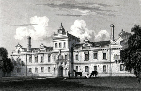 ANTIQUE PRINT: KIRBY HALL, NORTHAMPTONSHIRE. PL. 1.