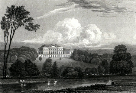 Antique print of Doveridge, near Ashbourne, Derbyshire