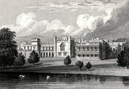 ANTIQUE PRINT: KNOWSLEY PARK, LANCASHIRE.