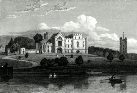 ANTIQUE PRINT: ALTON ABBEY, STAFFORDSHIRE.