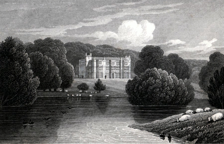 ANTIQUE PRINT: ENGLEFIELD HOUSE. BERKSHIRE.