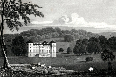 ANTIQUE PRINT: HAGLEY HALL. WORCESTERSHIRE.