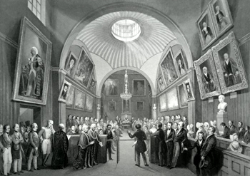 ANTIQUE PRINT: COURT OF COMMON COUNCIL, GUILDHALL. PRESENTATION OF A PETITION.