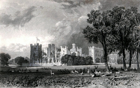 ANTIQUE PRINT: RABY CASTLE, DURHAM. THE SEAT OF THE R.T HON.BLE WILLIAM-HARRY VANE, DUKE OF CLEVELAND.
