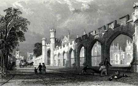 ANTIQUE PRINT: THE PALACE OF THE BISHOP OF DURHAM, AT BISHOP AUCKLAND.
