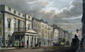 Antique print of Oxford Street