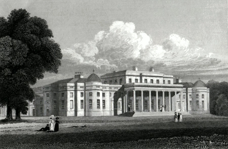 ANTIQUE PRINT: SHUGBOROUGH PARK. STAFFORDSHIRE.
