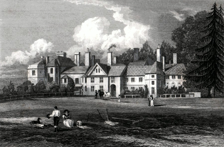 ANTIQUE PRINT: HAGLEY HALL, STAFFORDSHIRE.