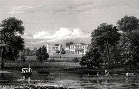 ANTIQUE PRINT: TIXALL. STAFFORDSHIRE.