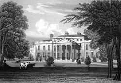ANTIQUE PRINT: KING'S BROMLEY HALL, STAFFORDSHIRE.