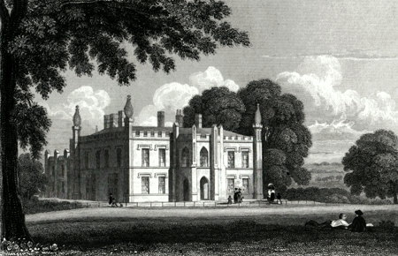 ANTIQUE PRINT: [HAWKESYARD HALL] ARMITAGE PARK. STAFFORDSHIRE.
