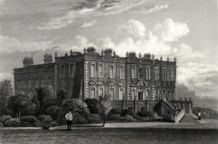 ANTIQUE PRINT: CROXTETH HALL, LANCASHIRE.