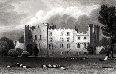 ANTIQUE PRINT: WITTON CASTLE. DURHAM.
