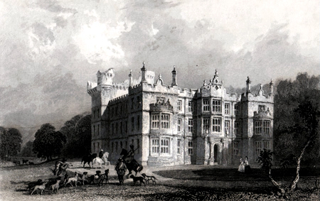 ANTIQUE PRINT: CHIP CHASE CASTLE, NORTHUMBERLAND.