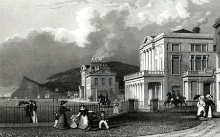 ANTIQUE PRINT: THE PUBLIC READING-ROOMS, & COCKRAM'S HOTEL, TEIGNMOUTH.